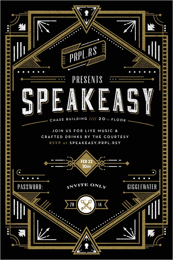 secret speakeasy invitation