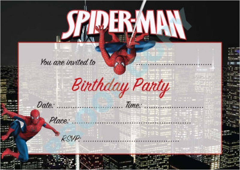 impress your guests with these spiderman birthday invitations
