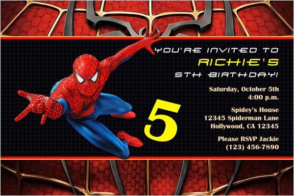 spiderman invitations