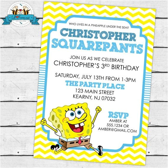 spongebob squarepants birthday ideas