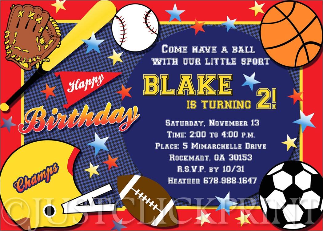 post printable sports birthday party invitation 92480