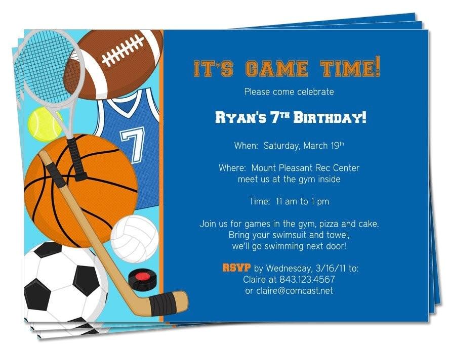 printable birthday sports theme