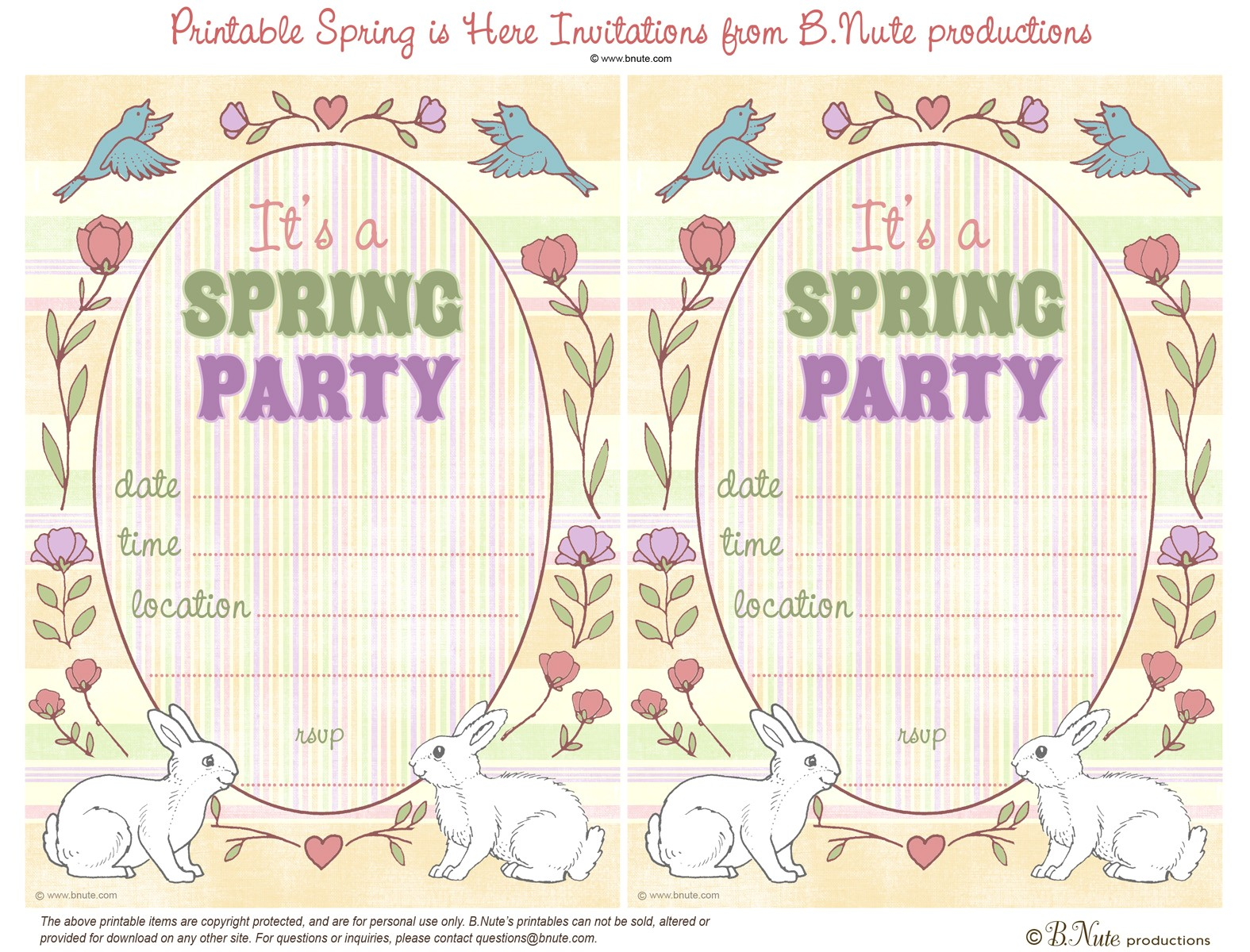 free printable spring is here easter