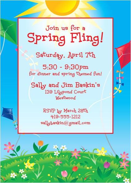flying kites invitation 432798