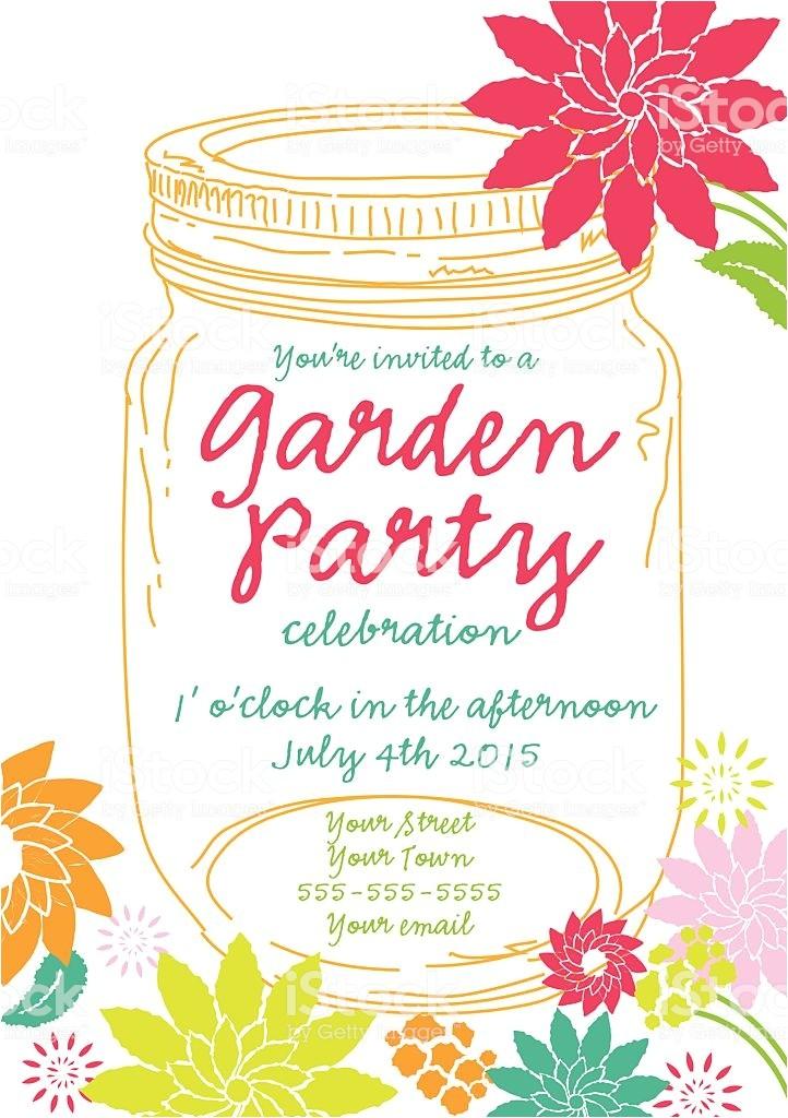 orange canning jar spring garden party invitation design template gm465100492 59597182