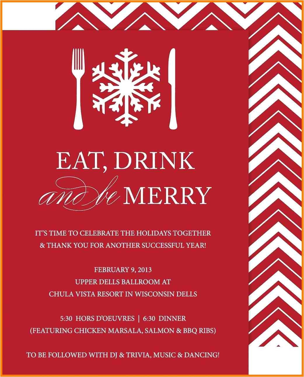 5 christmas staff party invitations templates