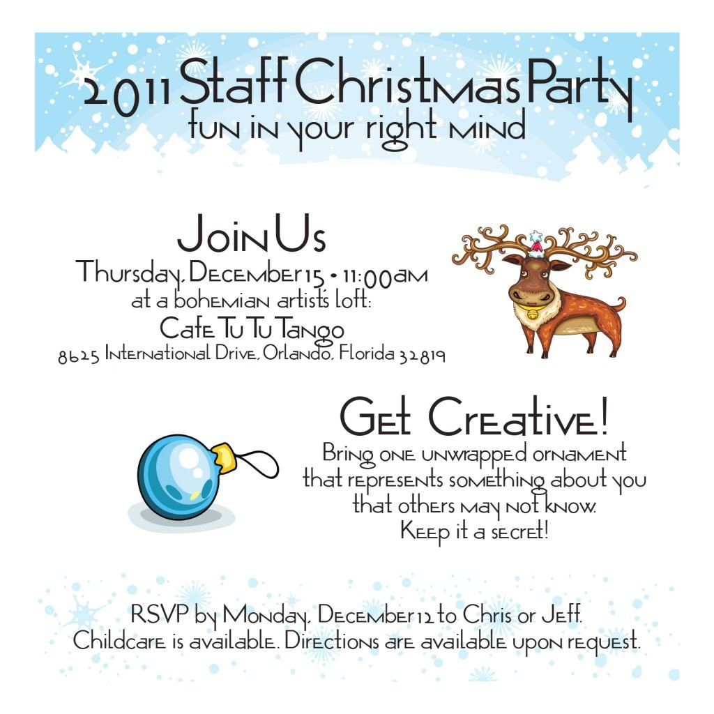 staff christmas party invitation