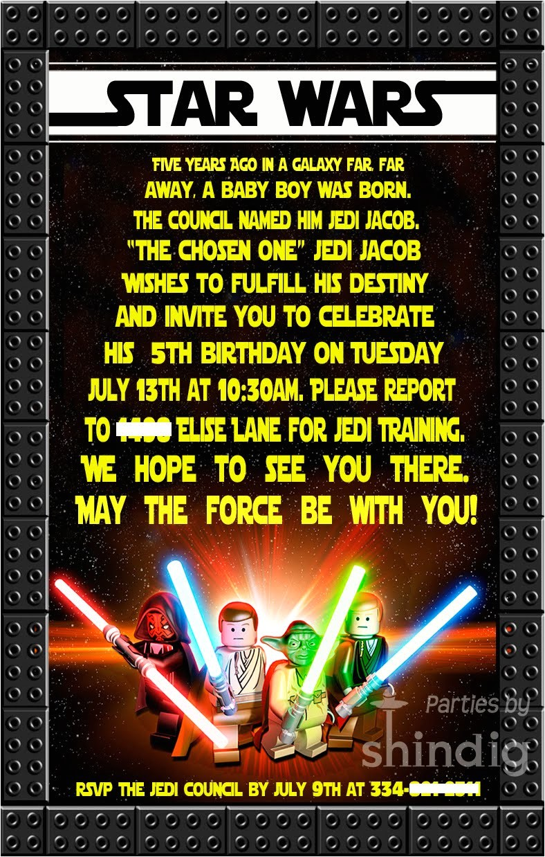 star wars party details