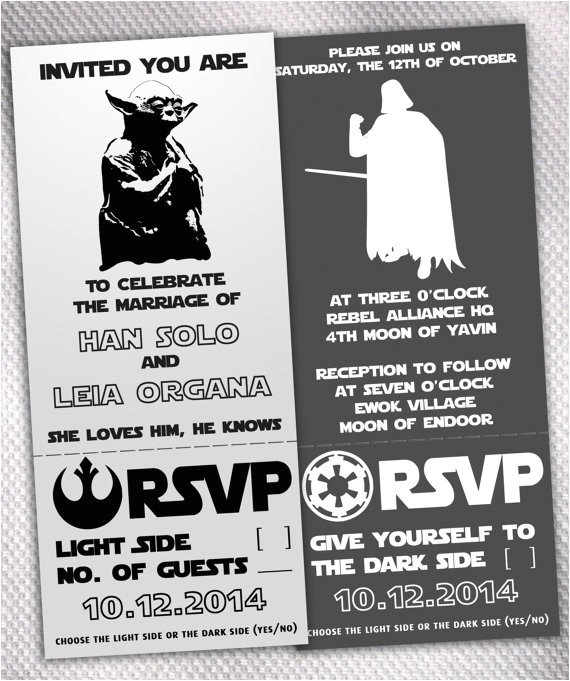 may the fourth black and white star wars wedding inspiration and ideas