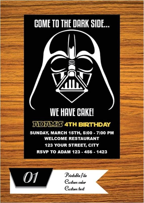 star wars invitation star wars party