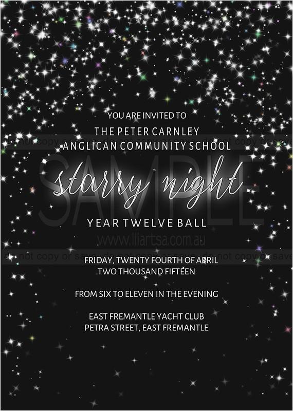 new invitation starry night