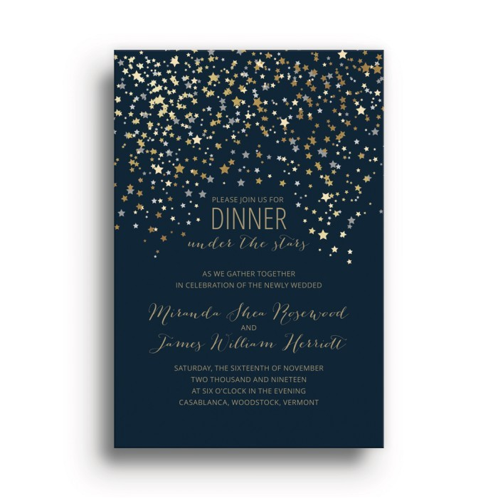 starry night party invitation