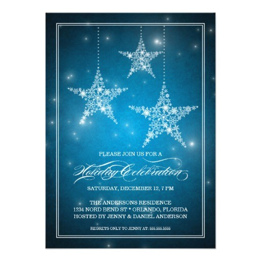 starry night party invitation with star ornaments 161278584144548688