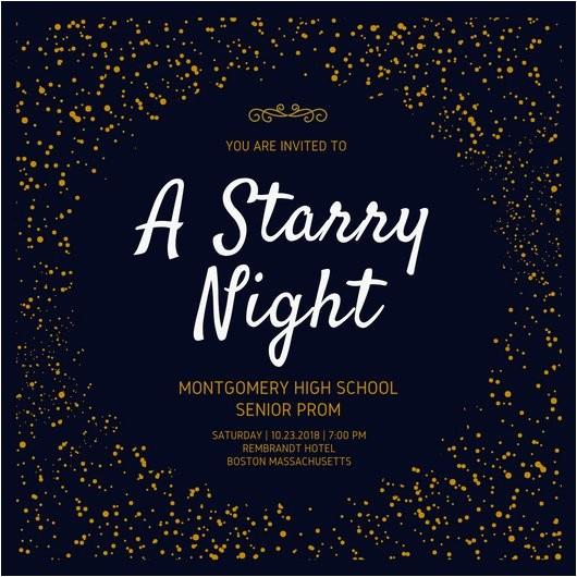 maby8eyys6k starry night prom invitation
