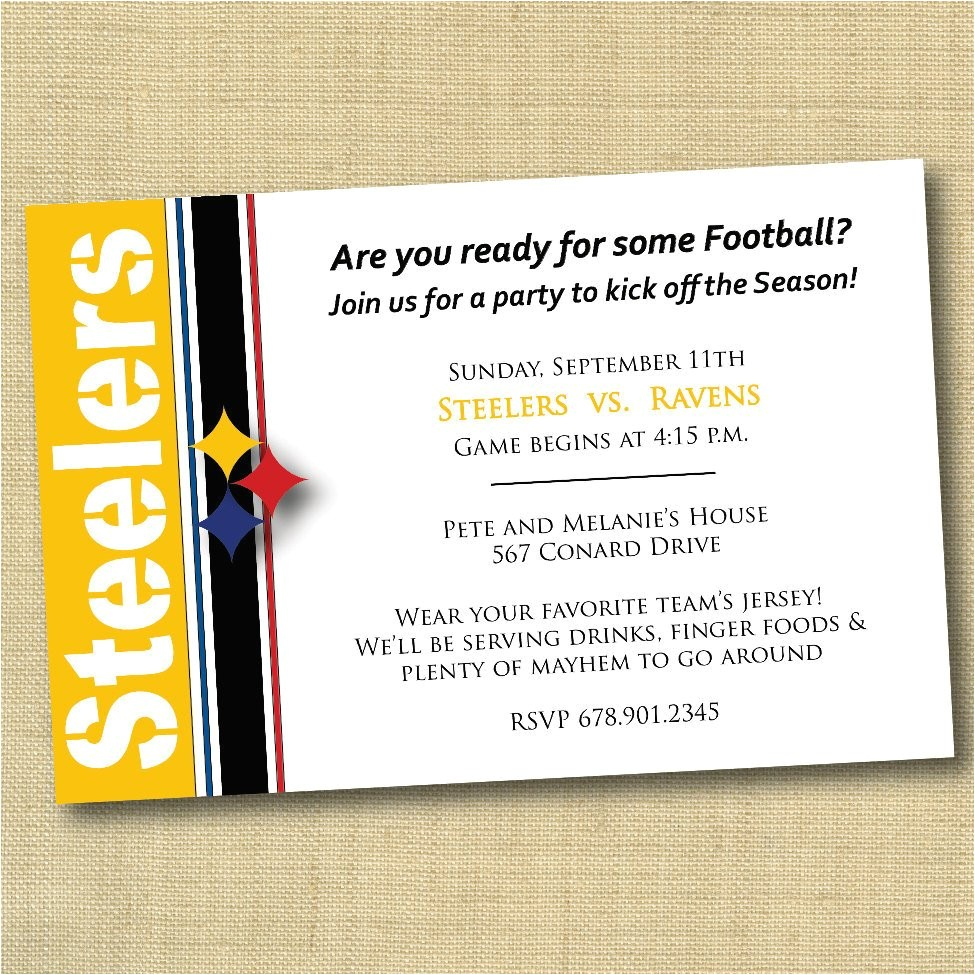 pittsburgh steelers football party
