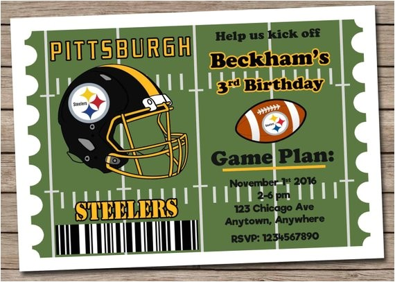 pittsburgh steelers football invitation