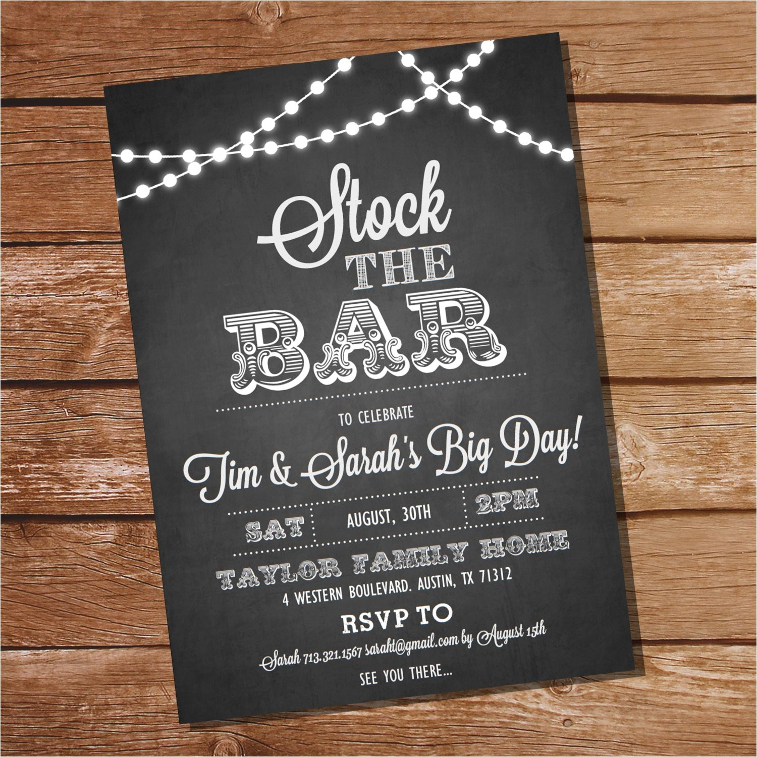 chalkboard stock the bar engagement