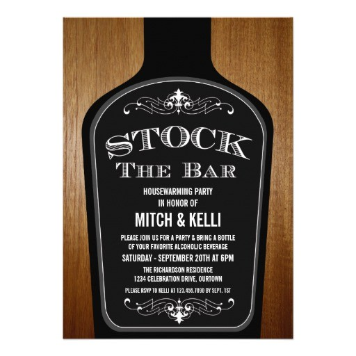 stock the bar housewarming party invitations 161656781426922754