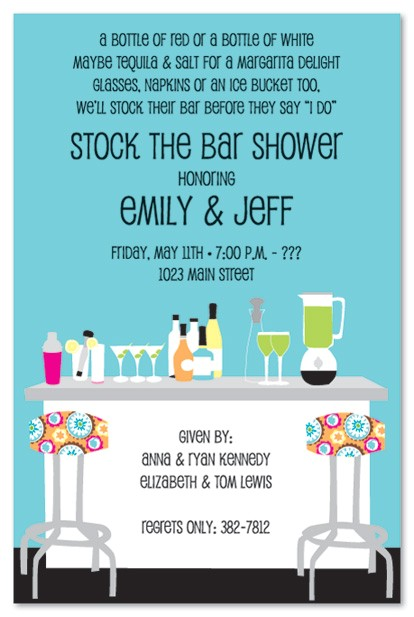 stock the bar party invitations template