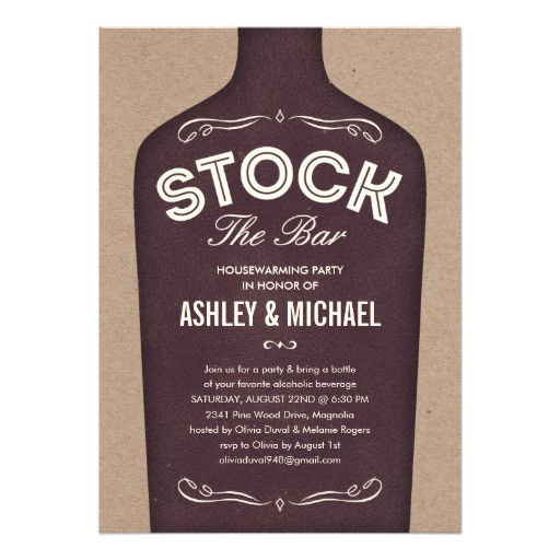 stock the bar shower invitations 161088541859376415