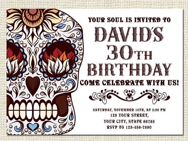 sugar skull birthday invitation sugar