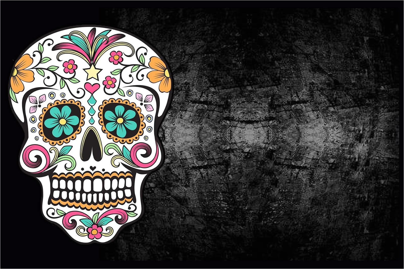 halloween sugar skull invite with free