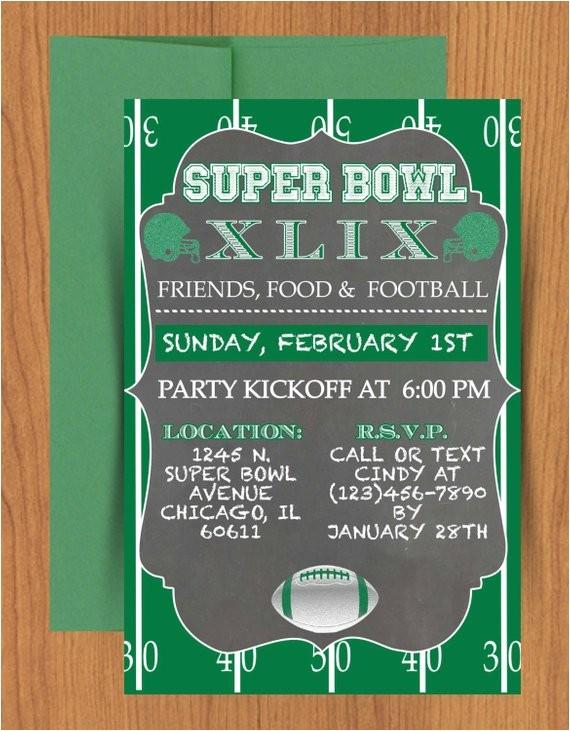 chalkboard super bowl invitation