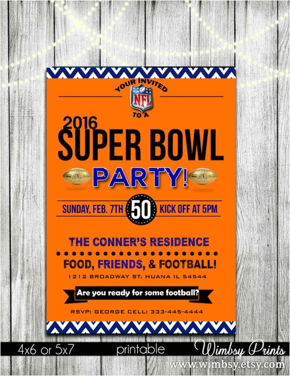 super bowl football party invitations