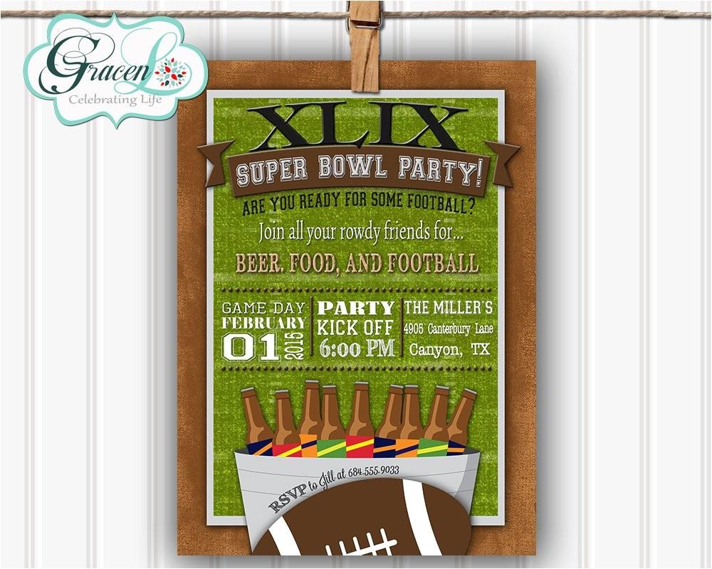 super bowl party invitation super bowl