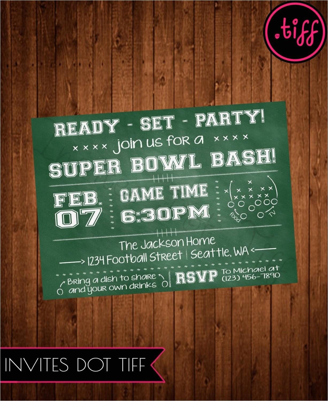 super bowl party invitation printable