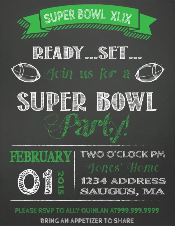 super bowl invitation