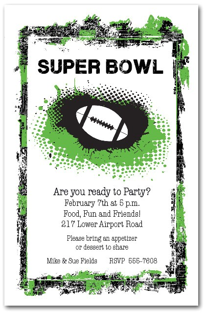Superbowl Party Invitations Grunge Football Super Bowl Party Invitations