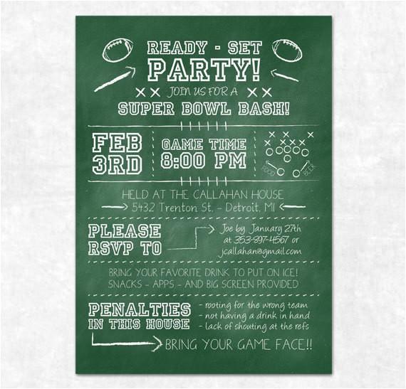free download super bowl party invitations design ideas