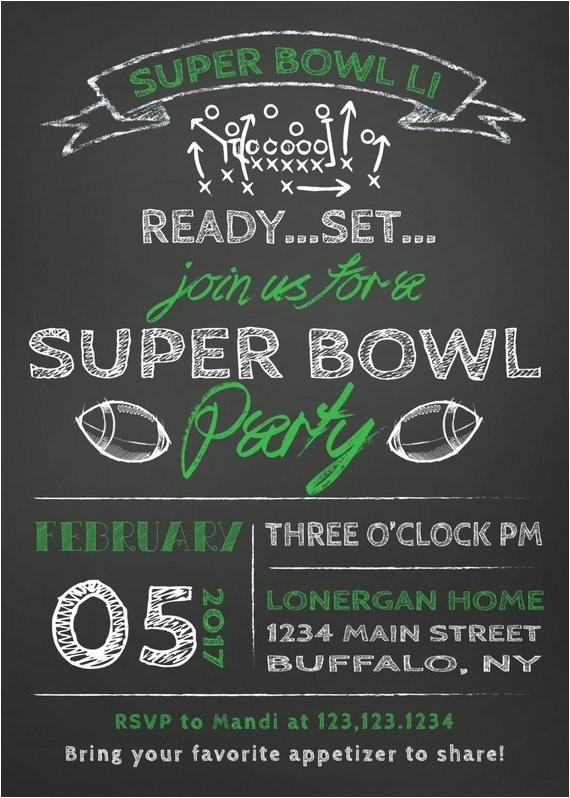 sale super bowl party invitation