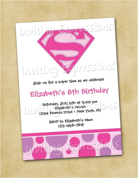 super girl superhero birthday