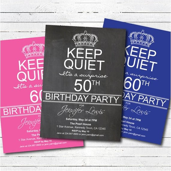 surprise 50th birthday party invitation