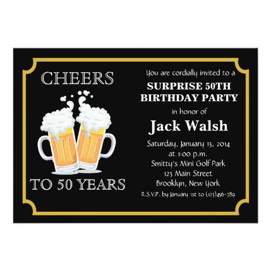 cheers surprise 50th birthday party invitations 256812528339177037