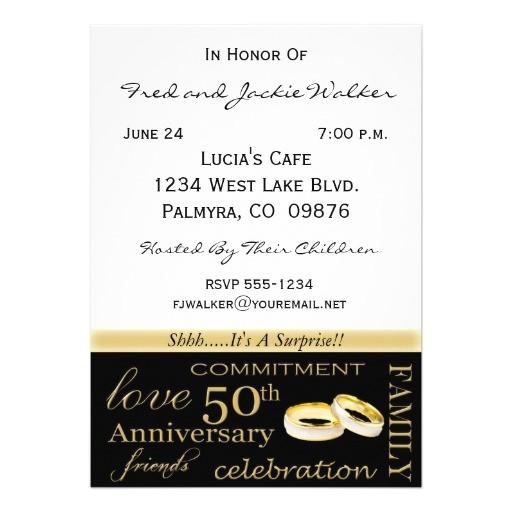 surprise 50th anniversary party invitations 161489094461606829
