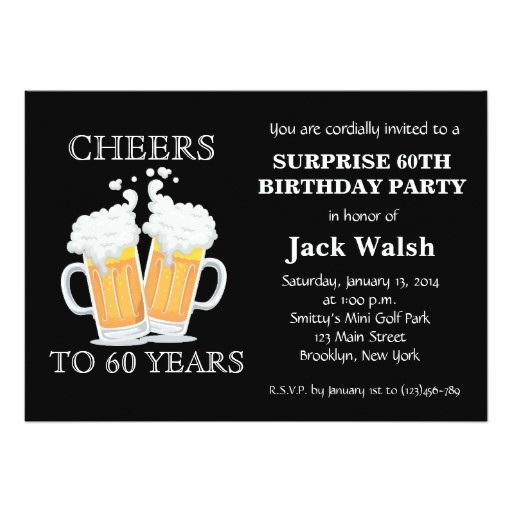 cheers surprise 60th birthday party invitations 256599173823493037