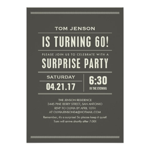 surprise 60th birthday invitations 161156634498762752