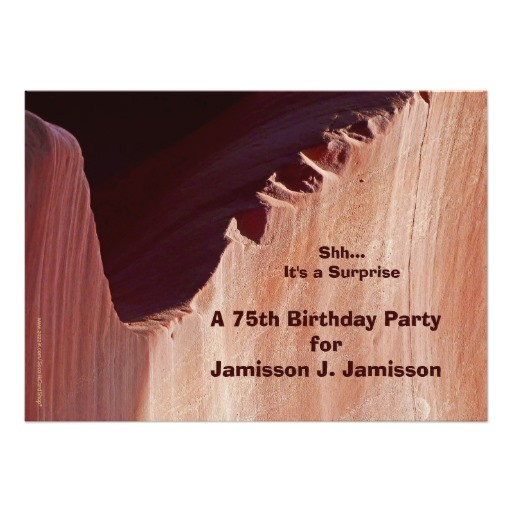 surprise 75th birthday party invitation canyon 161975039775774963