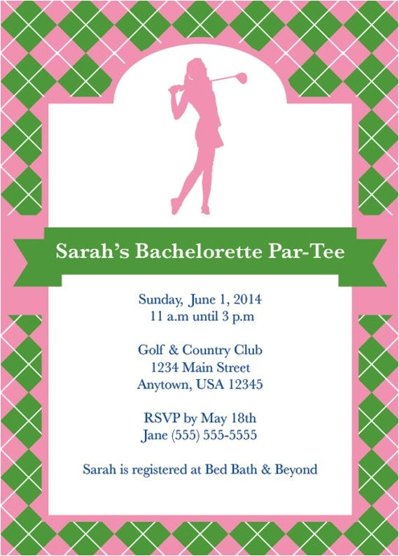 golf party golf invite bachelorette