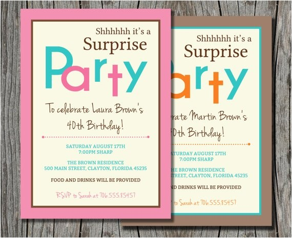 surprise birthday invitation printable