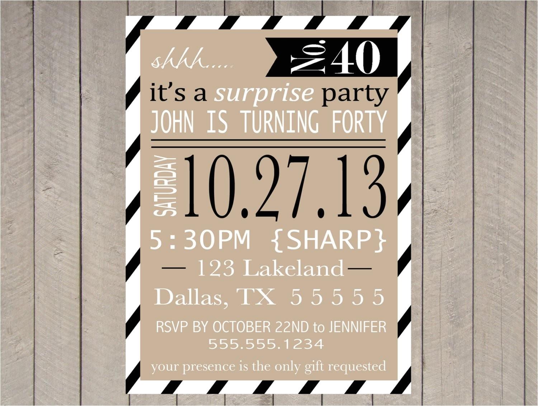 adult surprise party invitation