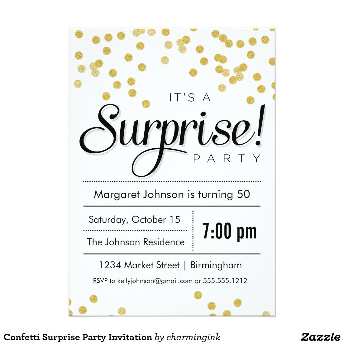 best surprise party invitation ideas free download