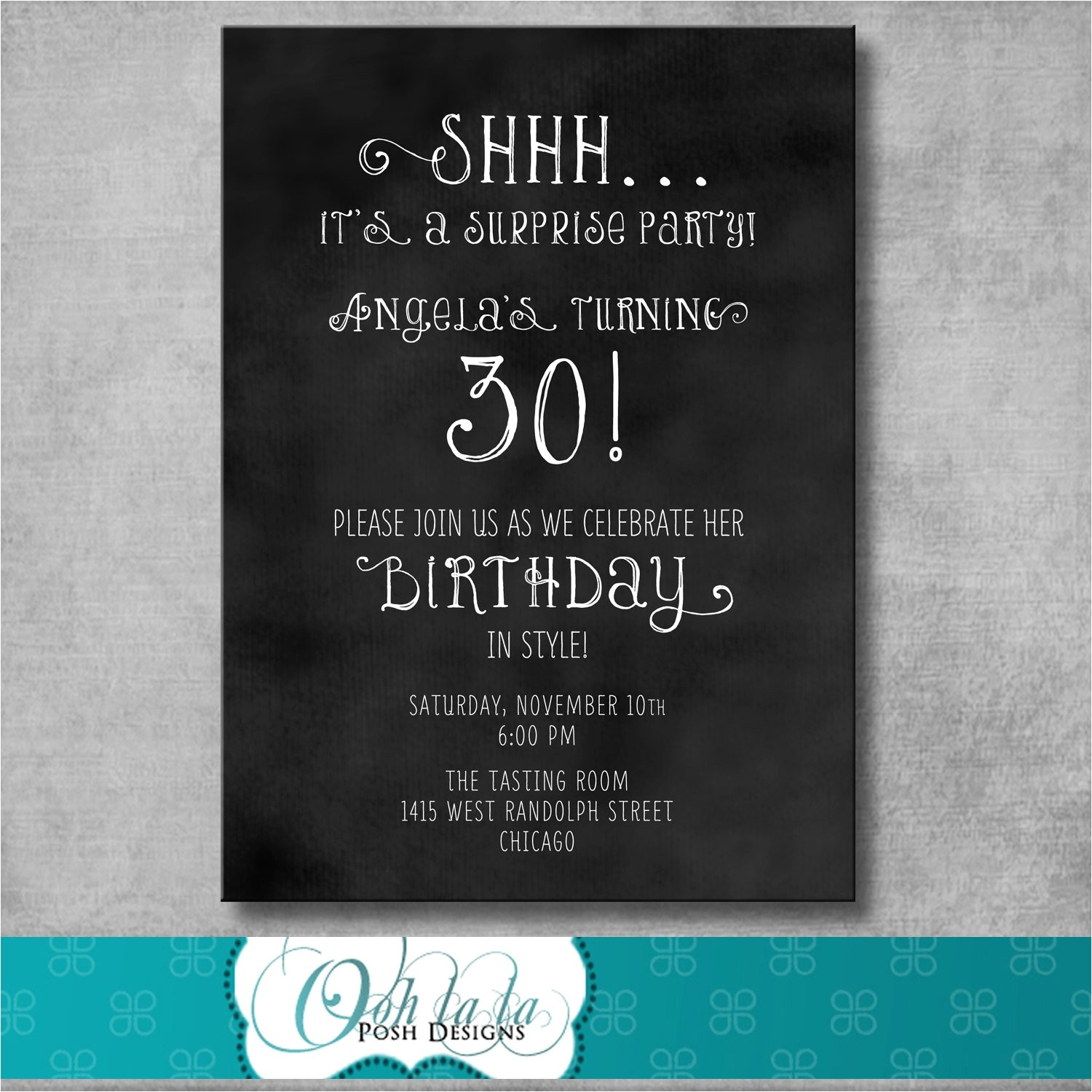 printable adult surprise birthday party