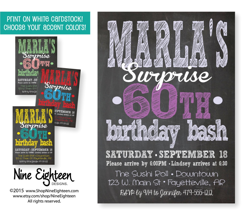 surprise birthday party invitation adult