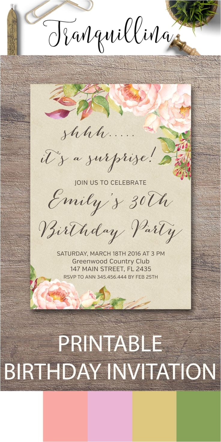 diy surprise party invitations