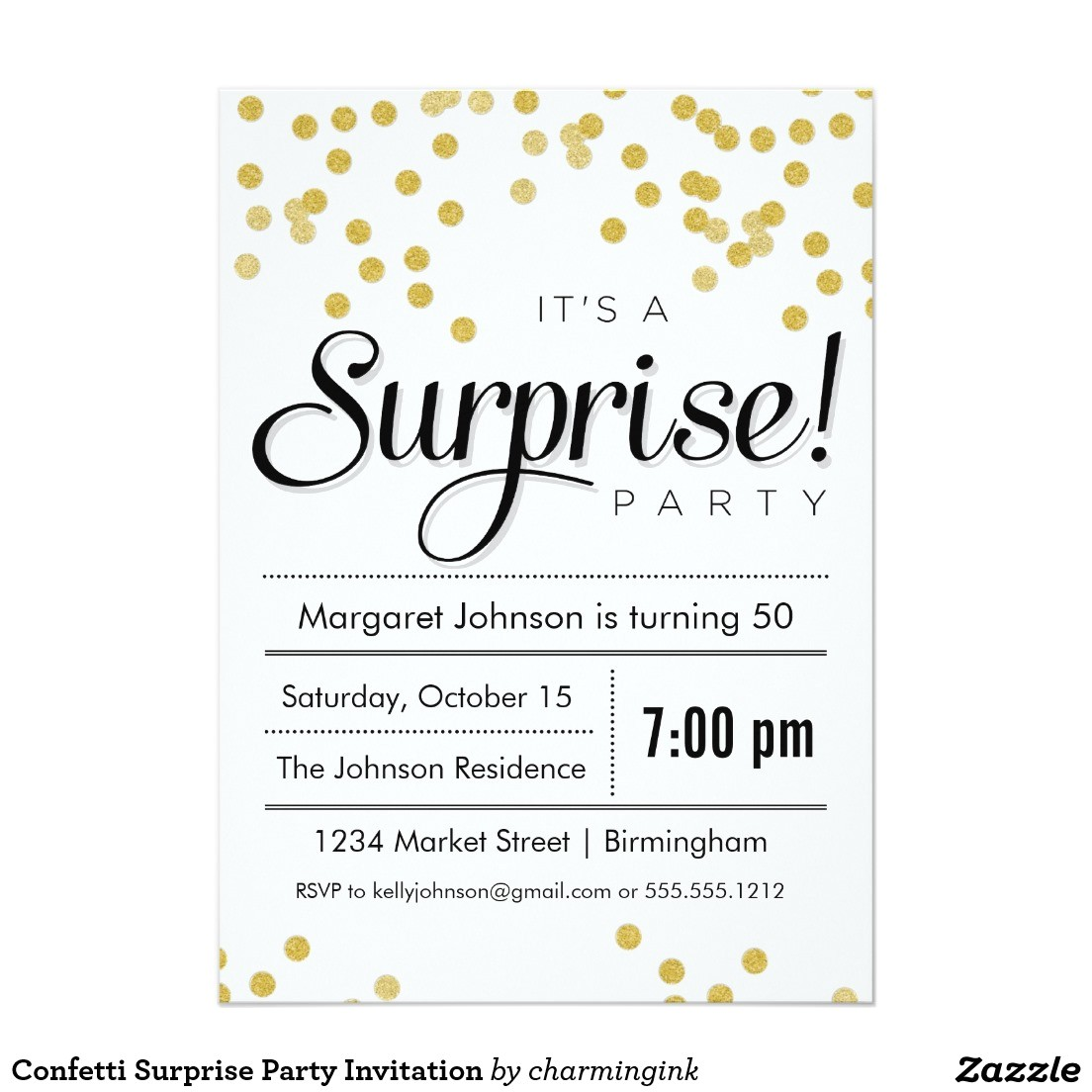 best surprise party invitation ideas free download