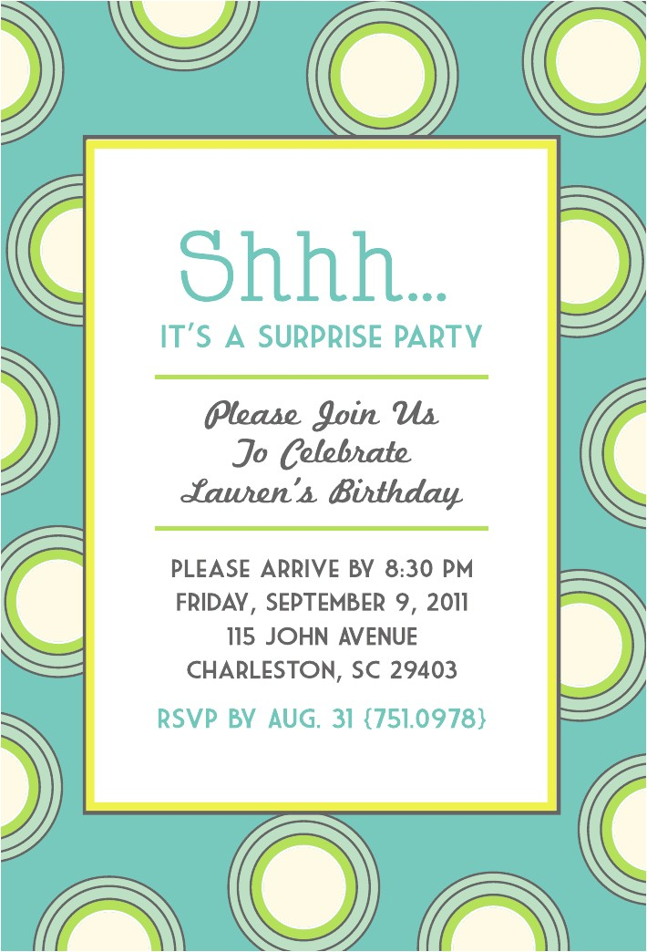 throw surprise party chic polka dot theme